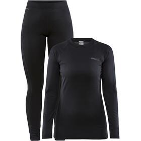 Craft Core Warm Zestaw odzieży bazowej Kobiety, czarny